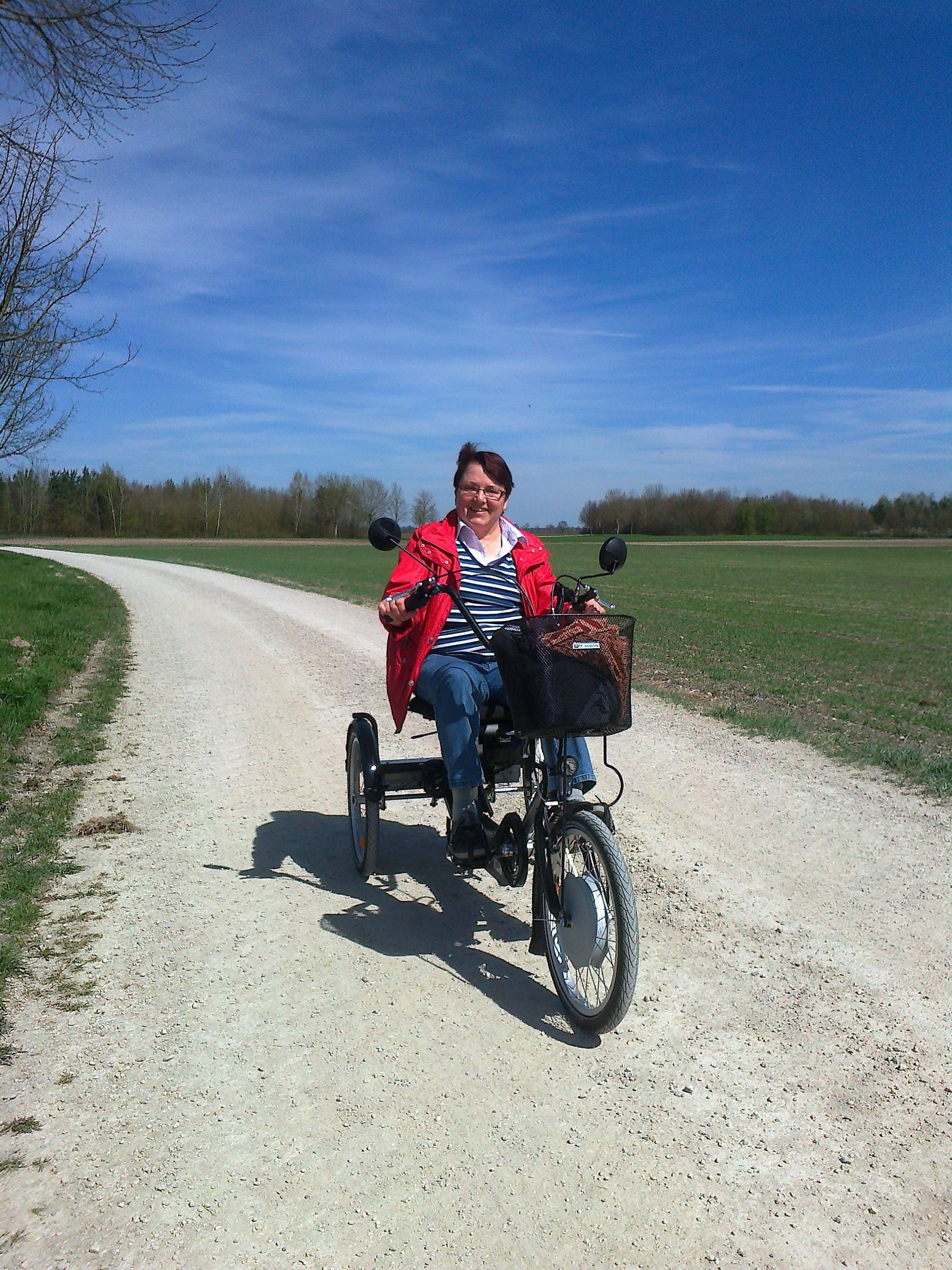 Ausflug mit dem Disco Dreirad von PF Mobility